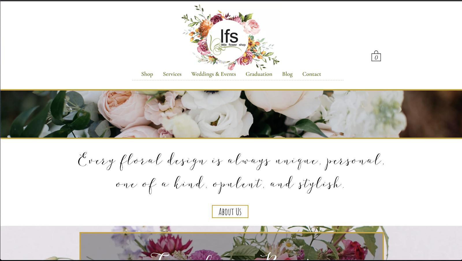 花屋 ウェブサイト制作事例7−1