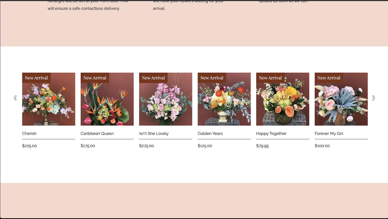 花屋 ウェブサイト制作事例8−2
