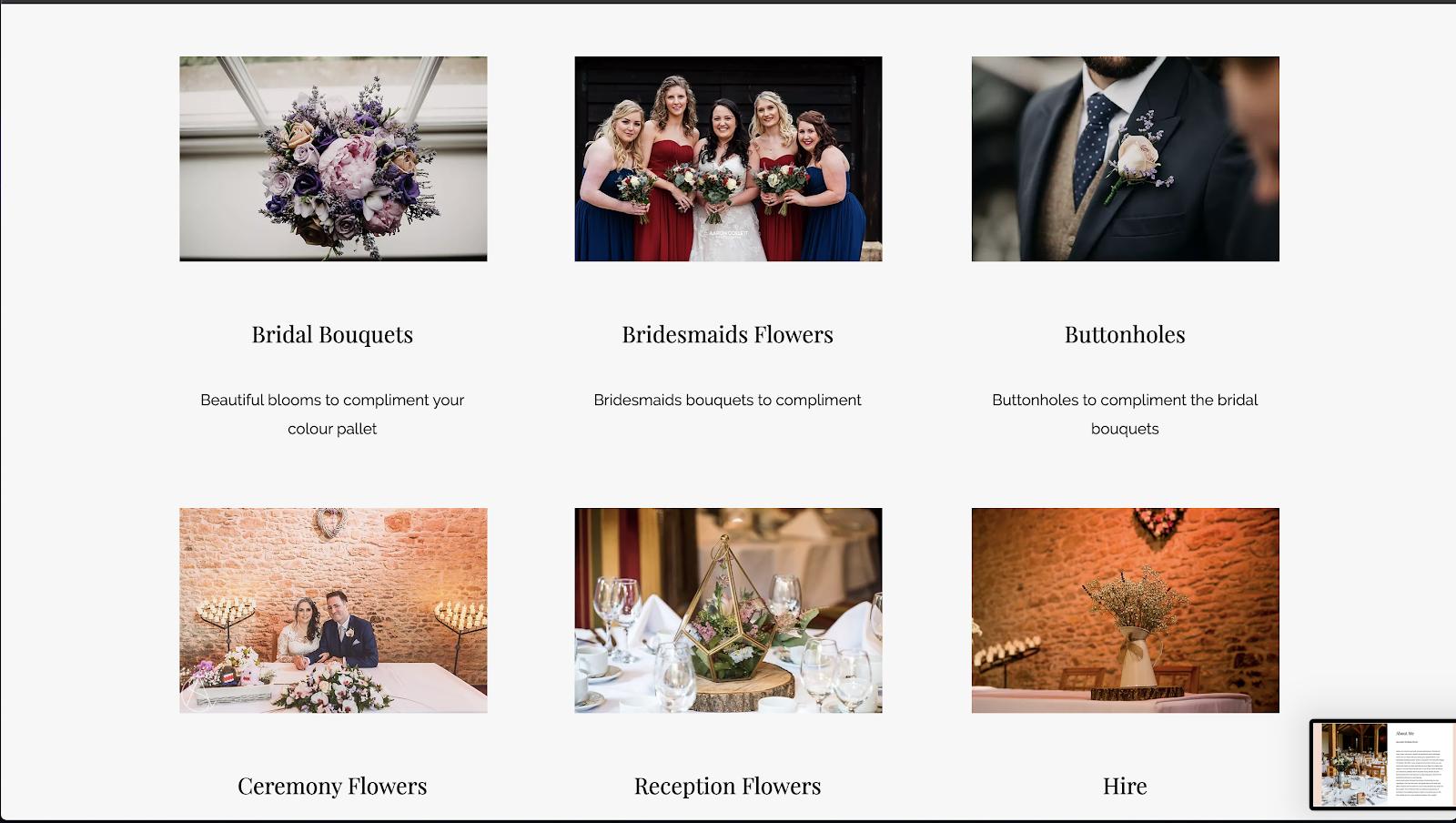 花屋 ウェブサイト制作事例9−2