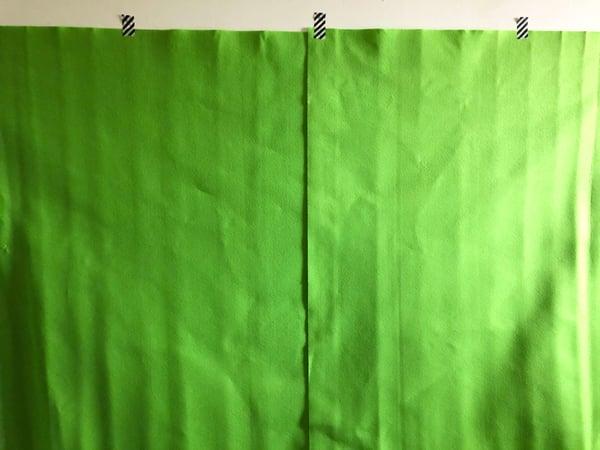 zoomでクロマキー合成!グリーンバックはダイソー素材で作れる4