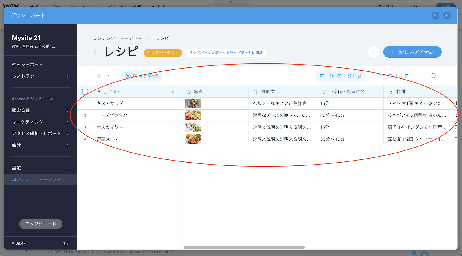 Wixデータベースの使い方!一括でページを簡単に作れる方法!