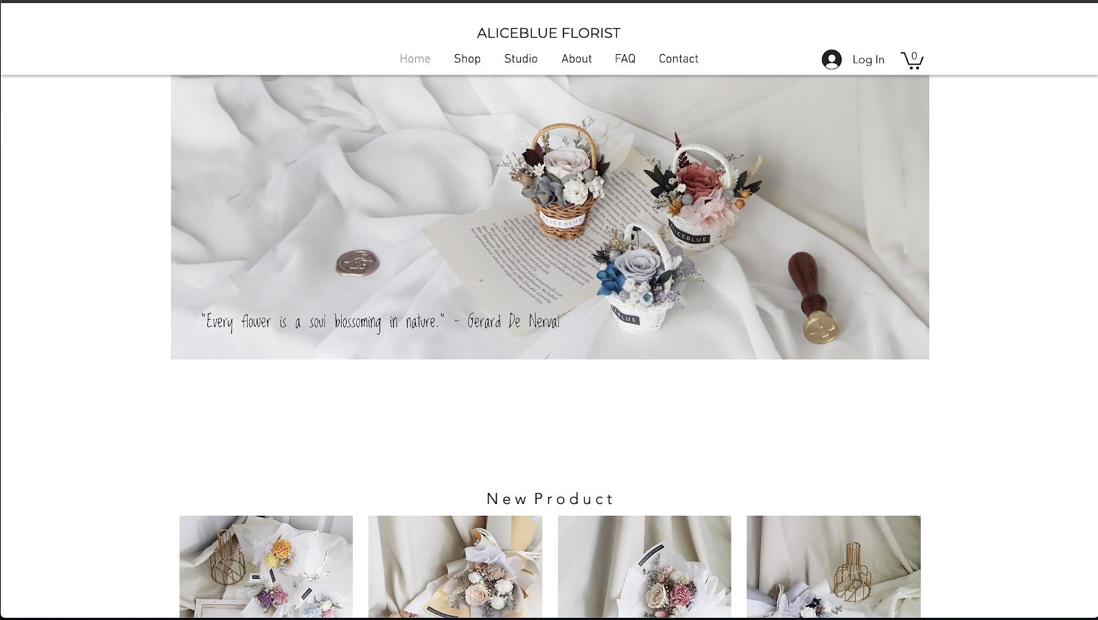 花屋 ウェブサイト制作事例2