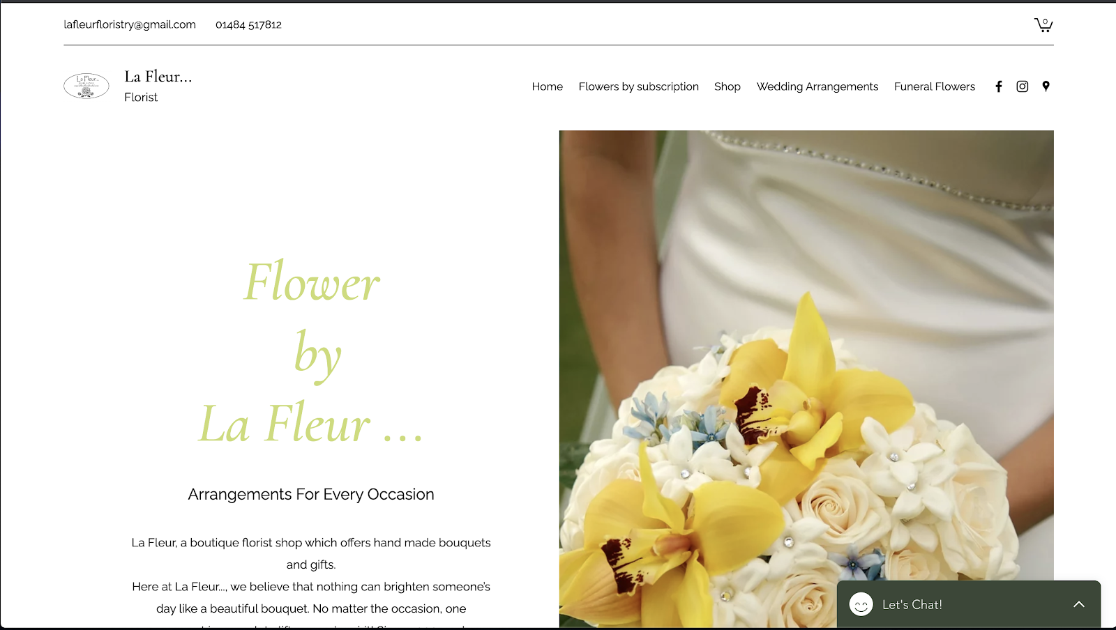 花屋 ウェブサイト制作事例4−1