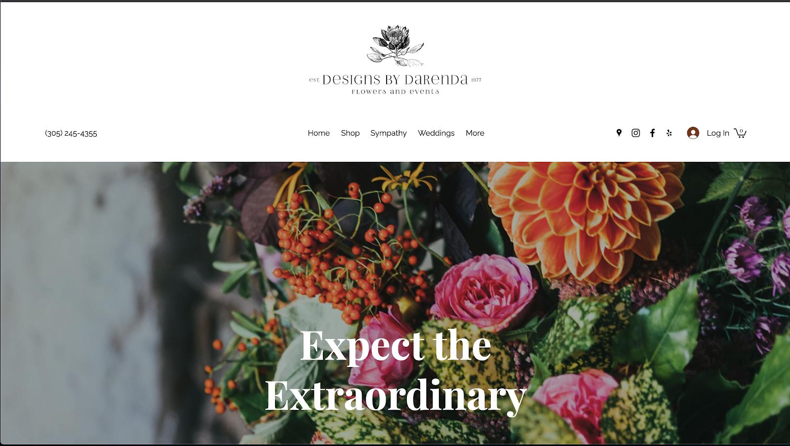 花屋 ウェブサイト制作事例8−1