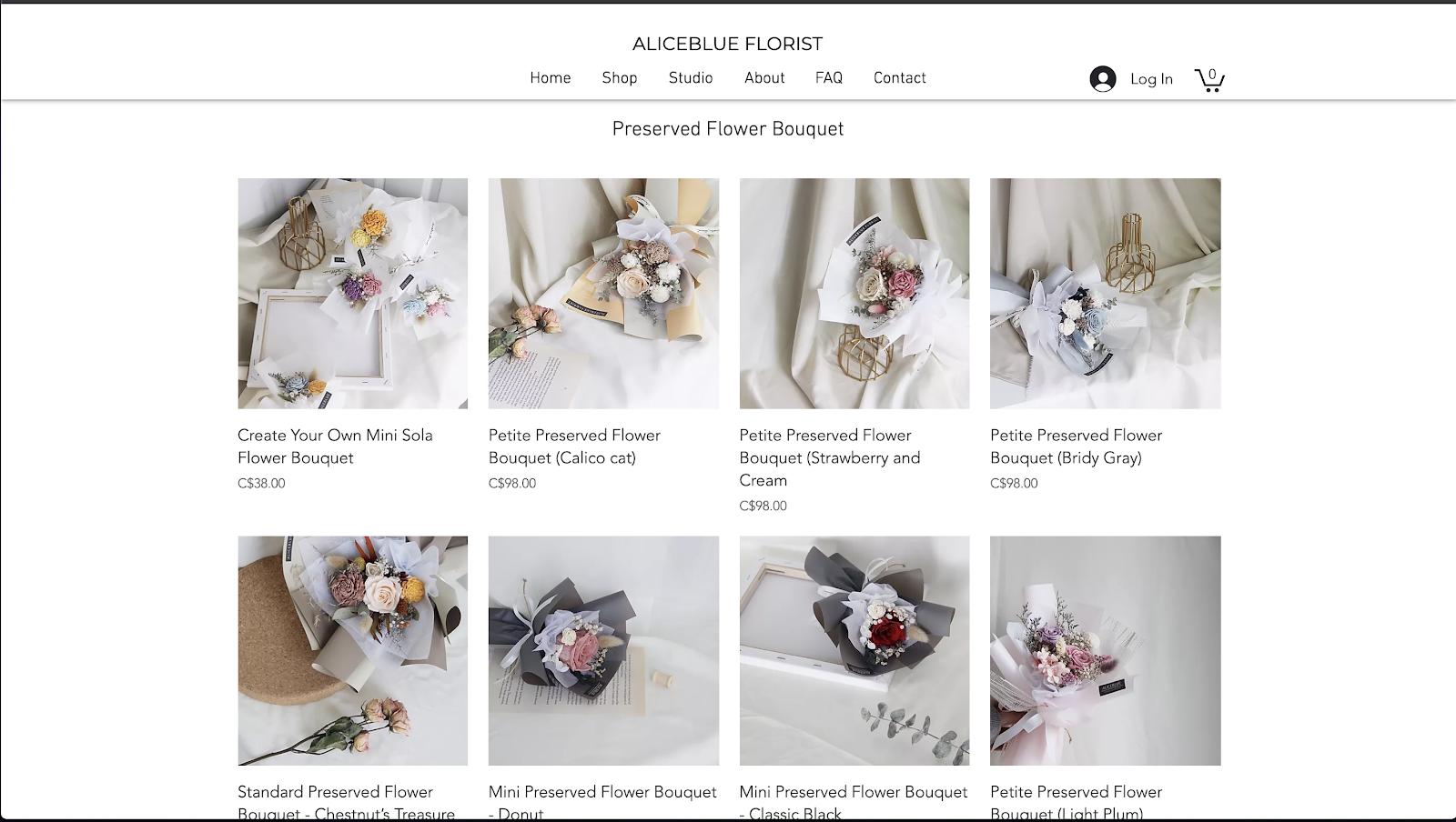 花屋 ウェブサイト制作事例2−2