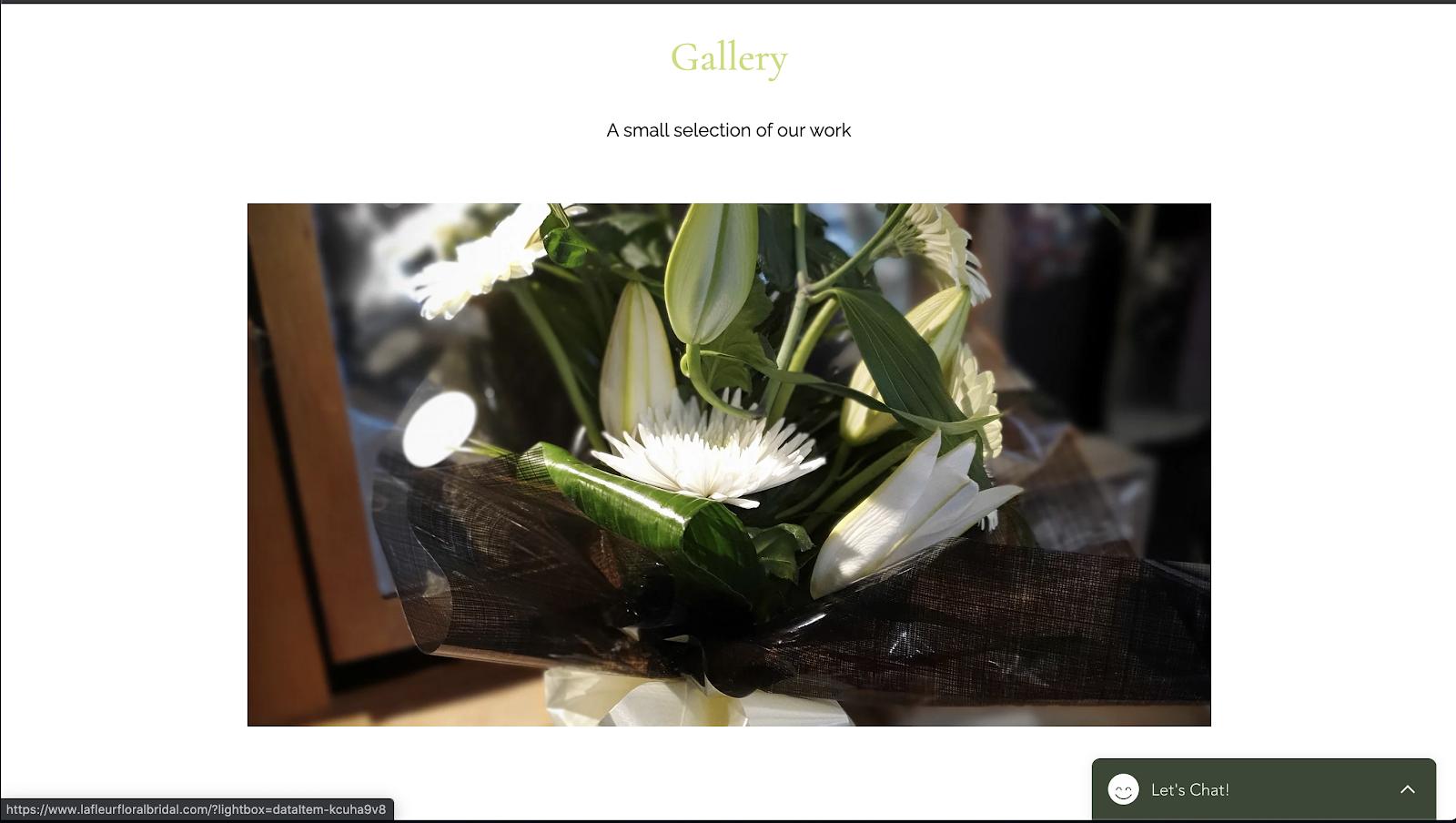 花屋 ウェブサイト制作事例4−2