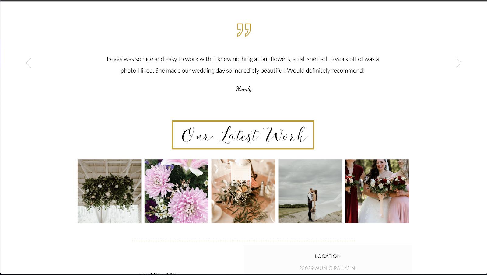花屋 ウェブサイト制作事例7−2