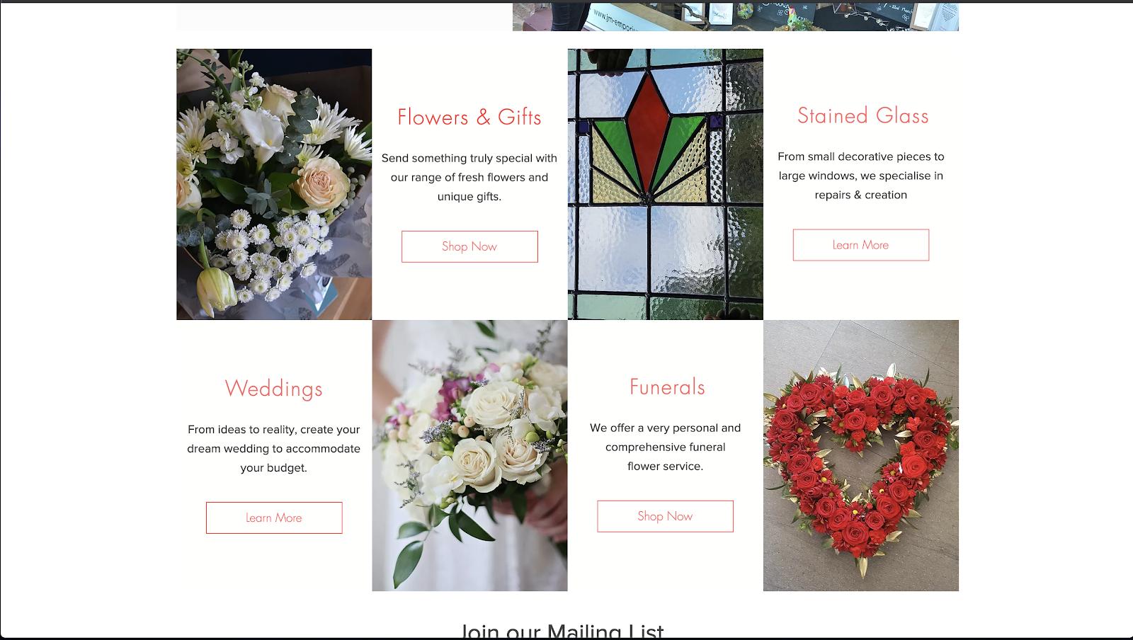 花屋 ウェブサイト制作事例5−2