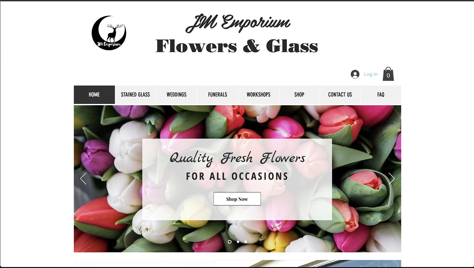 花屋 ウェブサイト制作事例5−1