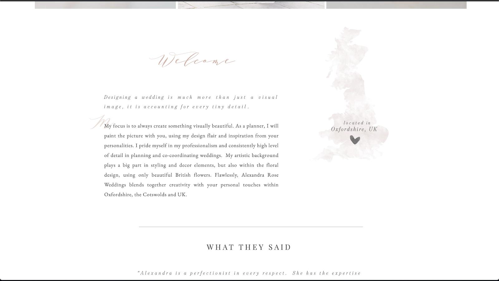 花屋 ウェブサイト制作事例3−2